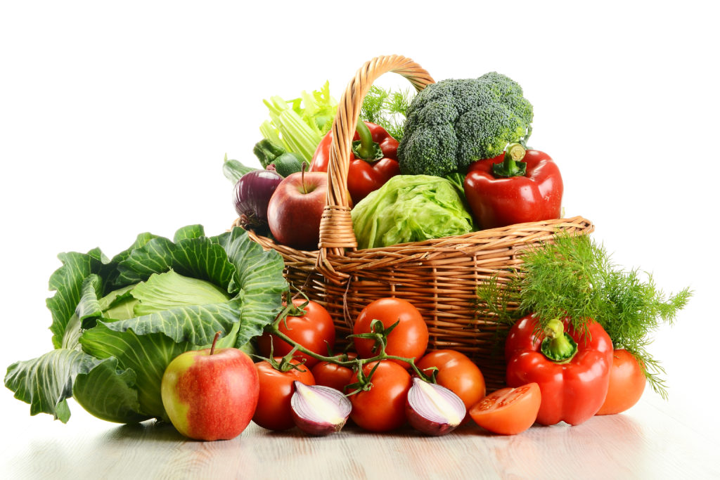 vegetable basket close up