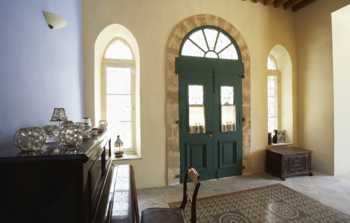 Cyprus, Entrance hall of antique Mediterranean town house