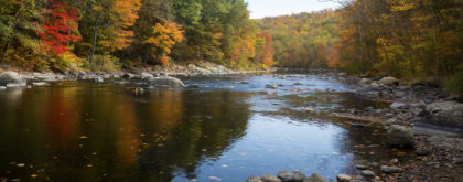 Views of the Farmington River in Canton, CT
