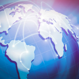 Concept of global internet connection. Globalization in the world.