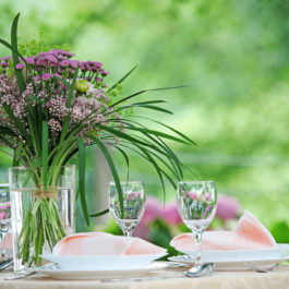 Picture that expresses fine table setting with beautiful natural bouquet. There is a place for a copy, a slogan in the right up position of picture and it is lovely to conect fresh picture with a copy that express power of mealtimes. Ready for beautiful advetrtising campaign. Also as a wedding reception.