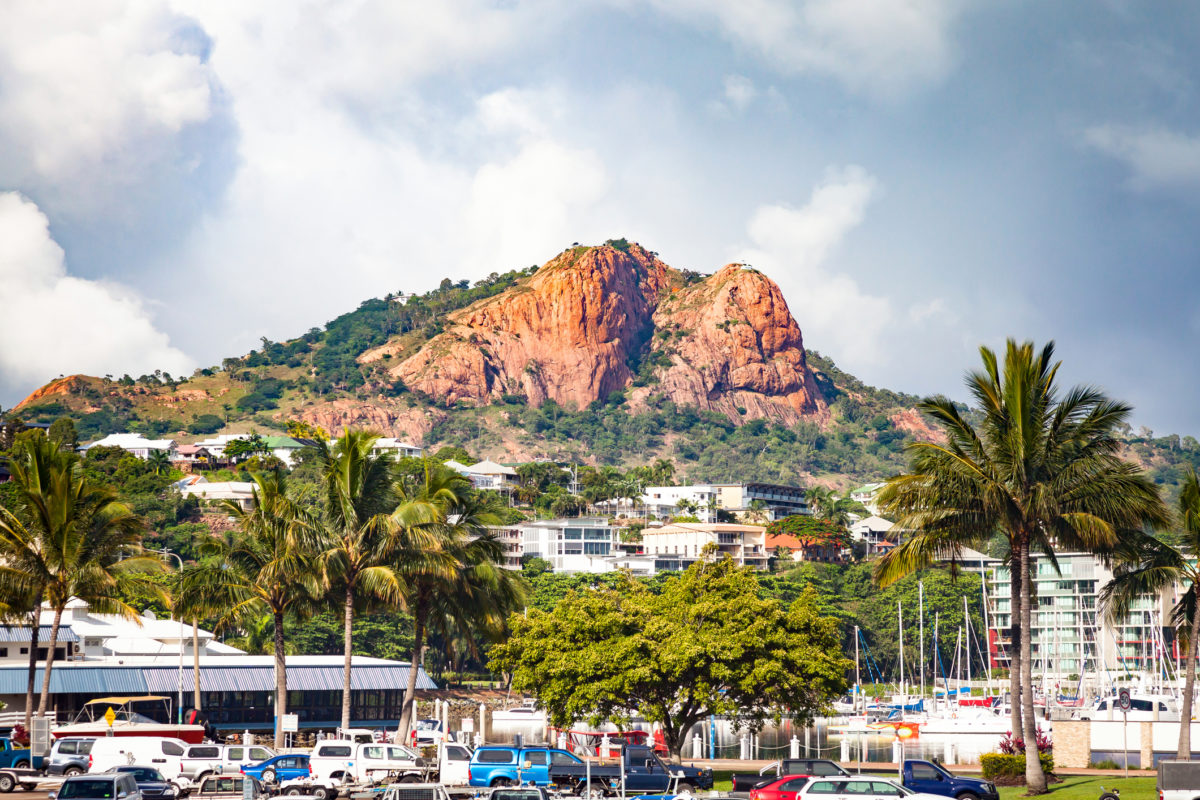 Castle Hill. A mountain in tropical Townsville City Queensland Australia