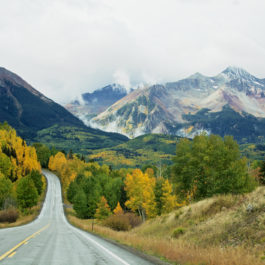 Fall road trips through beautiful and colorful Telluride in southwest Colorado.