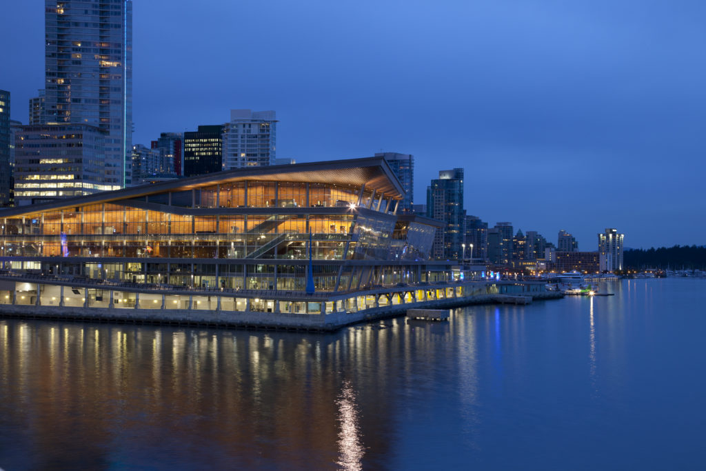 Vancouver's new Coal Harbour waterfront convention center.